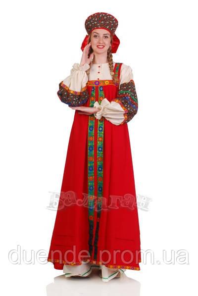 Крестьянский женский национальный карнавальный костюм / BL - ВЖ256