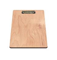 Планшет деревянный с зажимом для бумаги А4