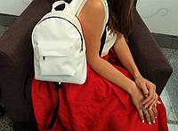 Белоснежный мини-рюкзак из итальянской экокожи, фото 1