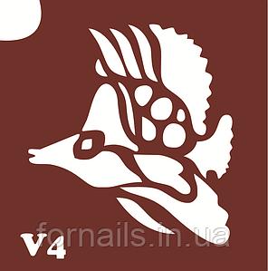Трафарет для биотату №V4