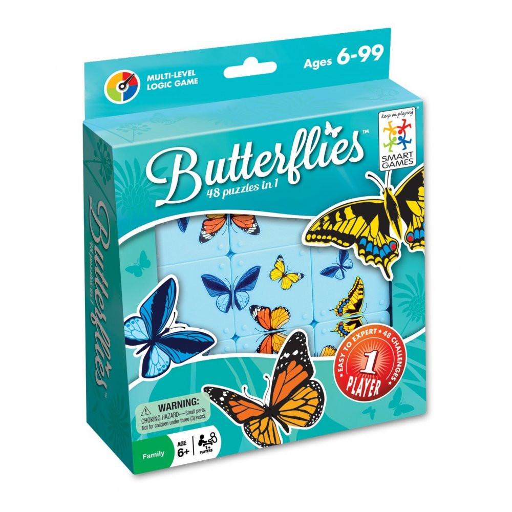 Настольная игра-головоломка Бабочки (Метелики, Butterflies) TM Smart games (SG 495)