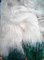 Сеть 3м*100м  плетеный пореж сетка трехстенка из лески белая Ø40, 45