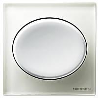 Niessen Tacto. Выключатель одноклавишный проходной (включение и выключение света с двух мест) 10 А, 220В.