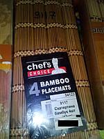Скатерть бамбук 4шт. 9117