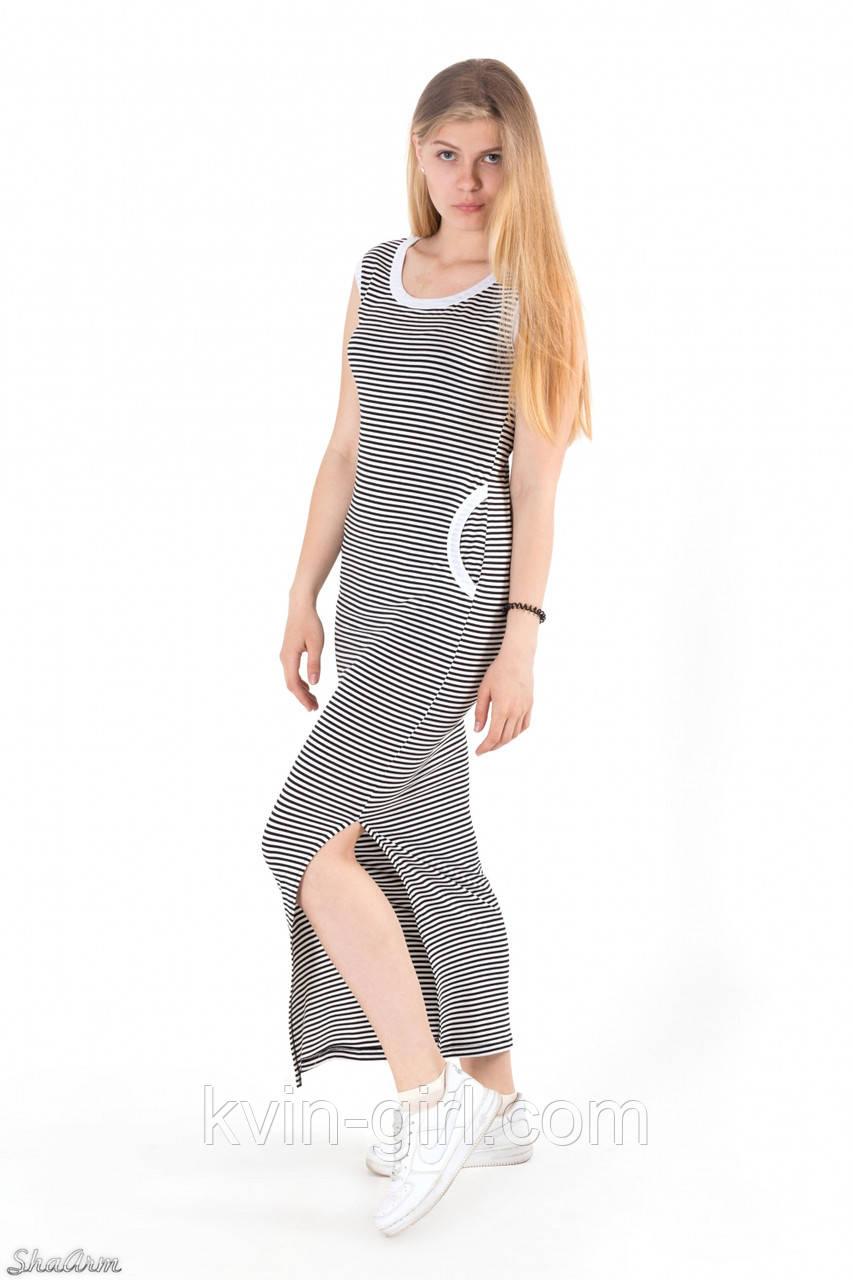 Платье длинное летнее в полоску