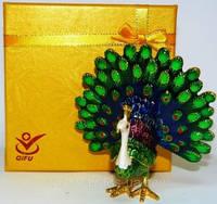 Шкатулка ювелирная Павлин №434-3,подарки для женщин ,подарок на 14 февраля и 8 марта