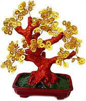 Дерево с монетами 29см,деревья счастья, декоративные деревья,искусственные бонсаи,товары для дома