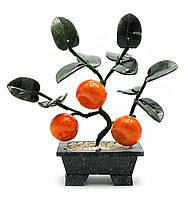Мандариновое дерево, 3 плода, 18см,деревья счастья, декоративные деревья,искусственные бонсаи