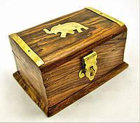 """Шкатулка розовое дерево """"Слон"""" (10,2х6,4см),деревянные шкатулки,оригинальные подарки"""