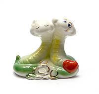 """Статуэтка фарфоровая """"Змеи пара"""", (6х7х4см),фарфоровые и керамические статуэтки,оригинальные подарки"""