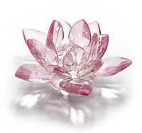 Лотос хрустальный розовый, 7,5х4см,статуэтки и фигурки,оригинальные подарки,красивые сувениры
