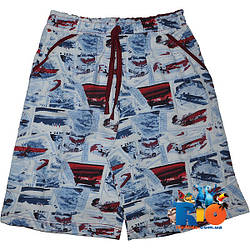 """Летние шорты """"Газетка"""", трикотаж , для мальчиков (рост 110-116-128-140 см)"""