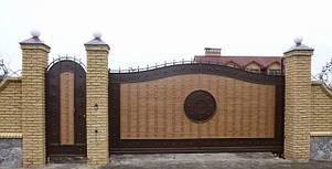 Ворота жатые металлические