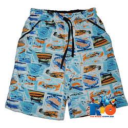 """Летние шорты """"Газетка"""" , трикотаж , для мальчика (рост 110-116-128-140 см)"""