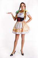 Баварский женский национальный карнавальный костюм бежевый