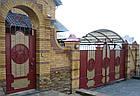 """Ворота кованые с жатым эффектом двухцветные """"Эгида 2"""", фото 3"""