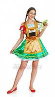 Баварский женский национальный карнавальный костюм зеленый