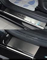 Накладки на пороги Chevrolet Aveo III 4D / 5D 2011- 4шт. premium
