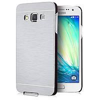 Чехол металлический Motomo для Samsung Galaxy A5 A500H Серебро