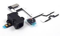 Шлейф iPhone 4 разъем наушников, кнопки громкости, вибро  /black/