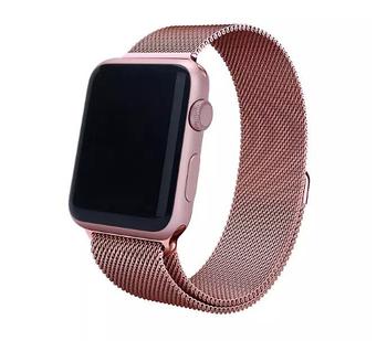 Миланский сетчатый ремешок Primo для Apple Watch 38mm / 40mm - Rose Gold