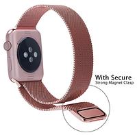 Миланский сетчатый ремешок для Apple Watch 38mm - Rose Gold