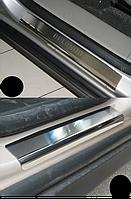 Накладки на пороги Chevrolet Orlando 2011- 4шт. premium