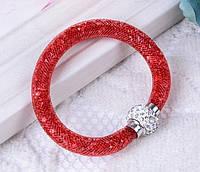 Браслет Stardust Swarovski красный на магнитной застежке