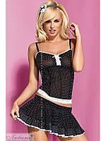 Сексуальный комплект горничной Obsessive Servanta corset & skirt