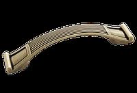 Ручка-скоба 96 мм. классическая AMUR-062/AE состаренная бронза, фото 1