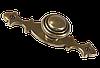 Ручка кнопка на подложке классическая AMGR-024/AE старая бронза