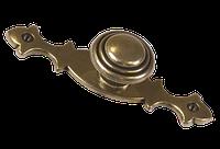 Ручка кнопка на подложке классическая AMGR-024/AE старая бронза, фото 1