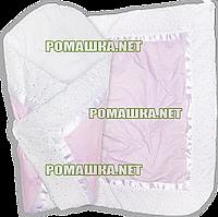 Летний конверт-одеяло на выписку 75Х75 Полоска, верх и подкладка хлопок, внутри синтепон 3077 Розовый