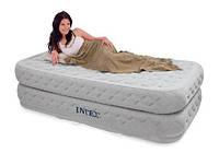 Одноместная надувная кровать Intex 66964 со встроенным электронасосом, надувные матрасы, надувные кровати,