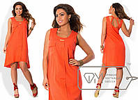 Ассиметричное льняное платье Батал и-202171