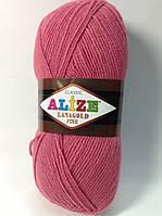Пряжа lana gold fine - цвет темно-розовый (фуксия)