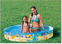 Детский каркасный бассейн Intex 56451 «Пляж на мелководье», надувные матрасы,бассейны, детские, товары Intex