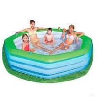 Бассейн 54119  с зеленым бортом, надувные матрасы,бассейны, детские, товары Intex