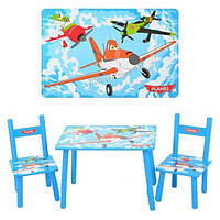 Столик M 1699 деревянный, 2 стульчика, надувные матрасы,бассейны, детские, товары Intex