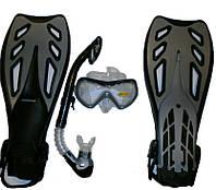 Набор для подводного плавания серый 39762525 ,наборы для дайвинга, отдых, набор для ныряний