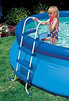 Лестница для бассейна Intex 28060 91 см, аксессуары Intex, насосы,весла,комплектующее для купания,товары Intex