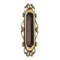 Ручка врезная современная классика URB16-99/07 состаренное золото, фото 1