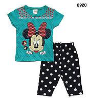 Летний костюм Minnie Mouse для девочки. 86 см