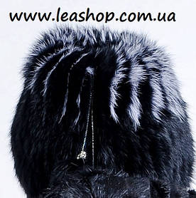 Зимова хутряна шапка з кролика