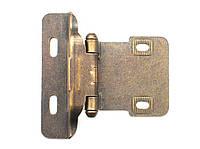Петля карточная с доводчиком, цвет старая бронза DOM-Z39-223