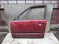 Дверь перед L (красная) Audi 100 C3 (82-91), фото 1