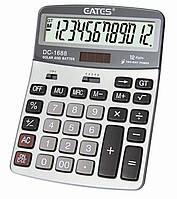 """Калькулятор """"EATES"""" DC-1688 (12 разрядный, 2 питания)"""