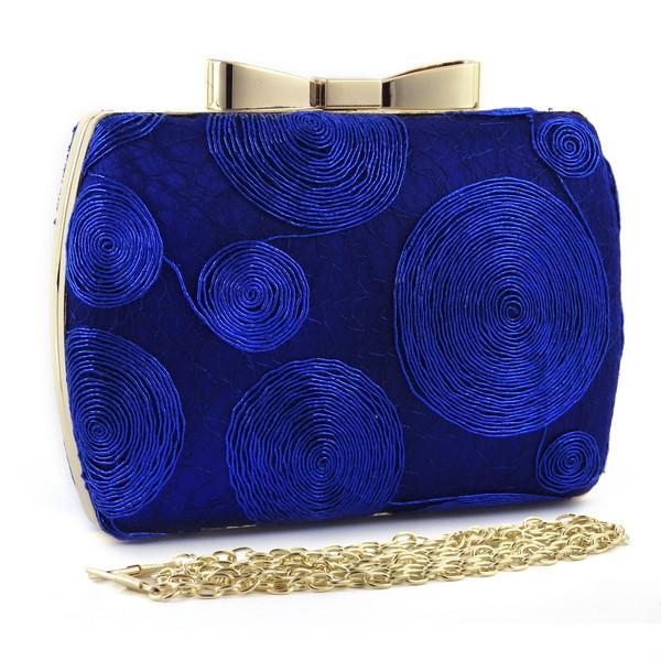 Вечерняя сумочка Синие круги
