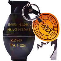 Зажигалка газовая Граната №4459-3, зажигалки, сувенирные подарки, зажигалка граната, оригинальные зажигалки