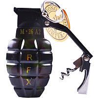 Зажигалка газовая Граната №4460-2, зажигалки, сувенирные подарки, зажигалка граната, оригинальные зажигалки
